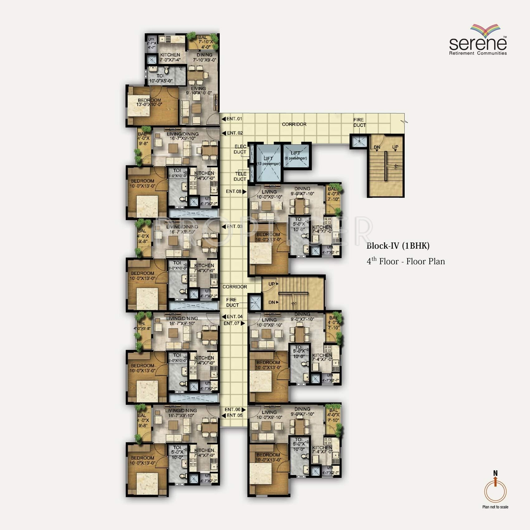1458 sq ft 3 bhk 3t apartment for sale in ozone group for Apartment floor plans for sale