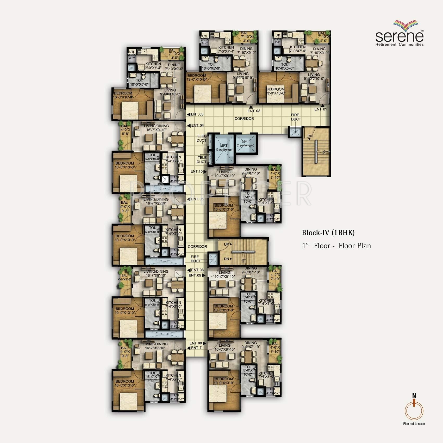 1458 sq ft 3 bhk 3t apartment for sale in ozone group for 1 bhk flat floor plan