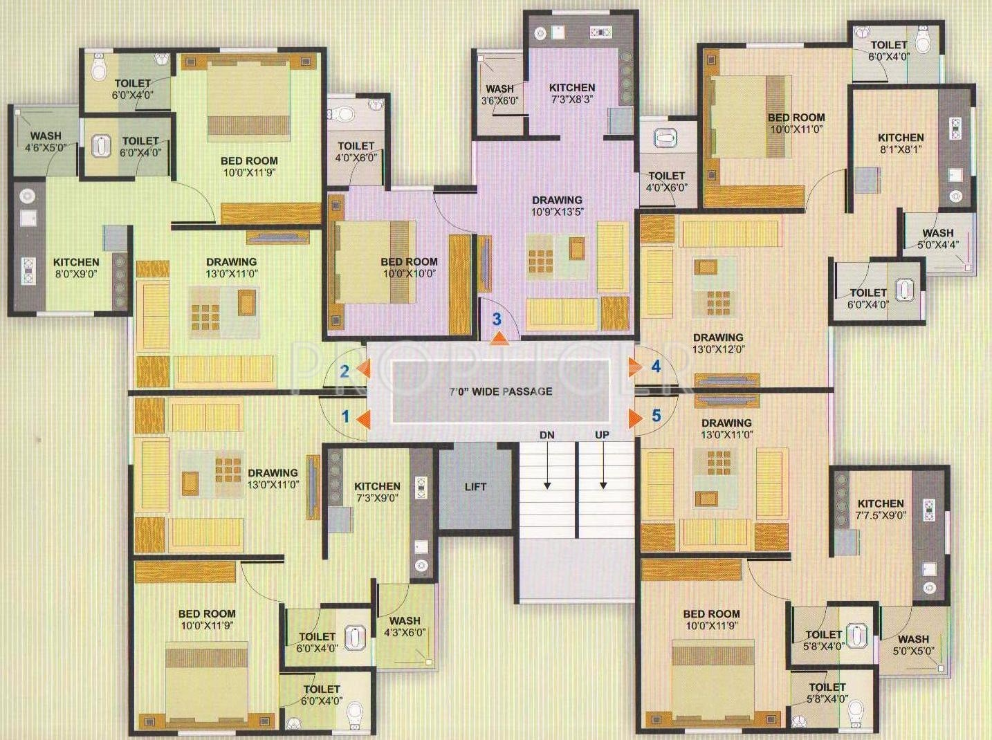 720 Sq Ft 1 Bhk 2t Apartment For Sale In Aman Developer