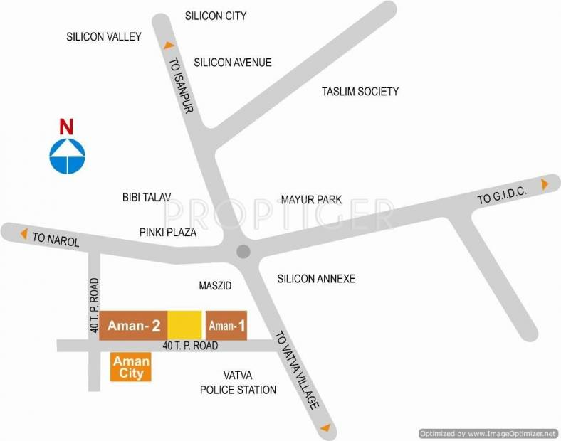 Images for Location Plan of Aman Developer Aman Residency 1