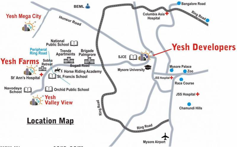 Images for Location Plan of Yesh Farm Villas