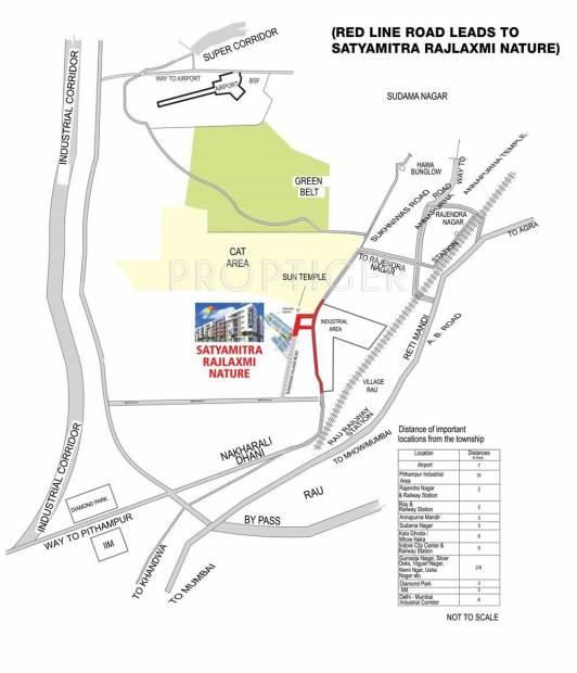 Images for Location Plan of RajLaxmi Satyamitra Rajlaxmi Nature