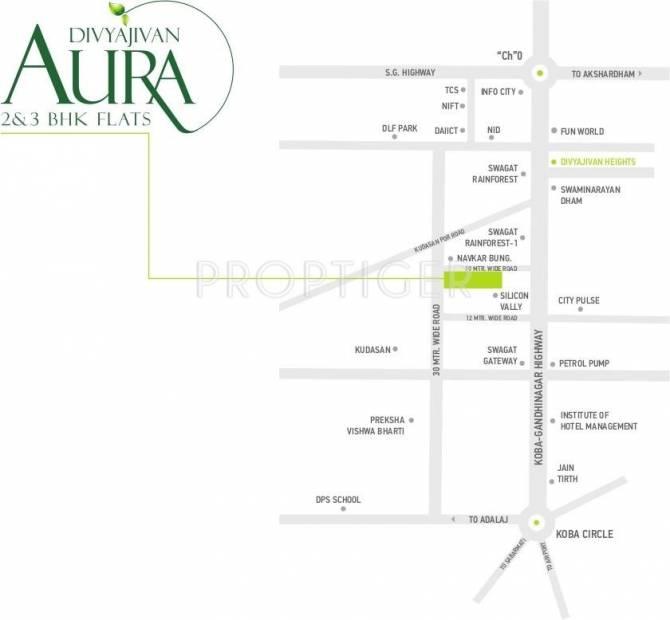 aura Location Plan