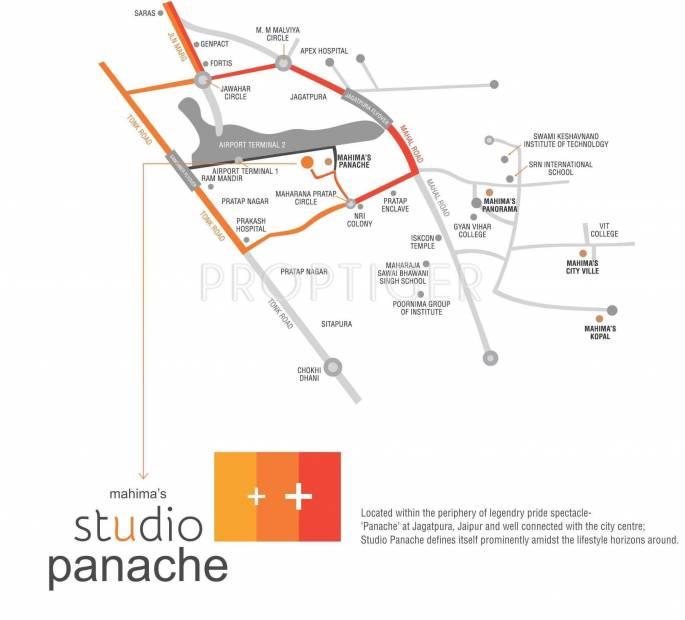 Images for Location Plan of Mahima Studio Panache