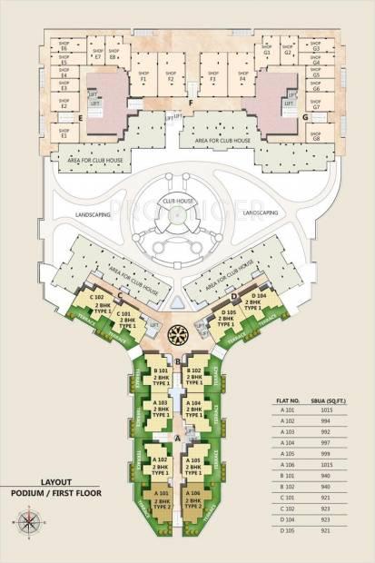 uma-aangan Images for Cluster Plan of Wish Uma Aangan