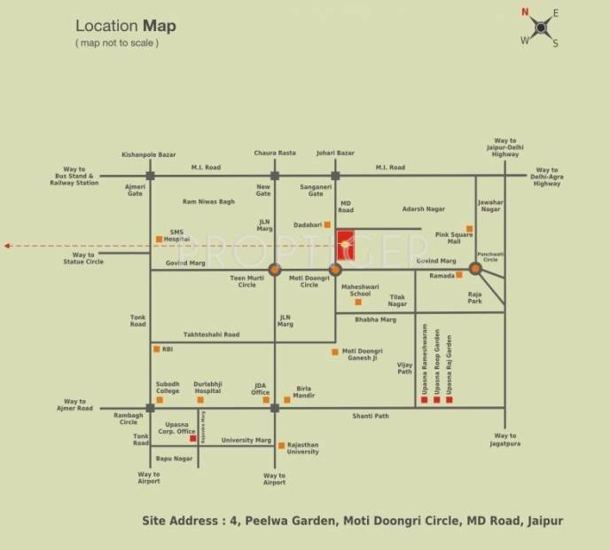Images for Location Plan of Upasna Karan Upasana Residency