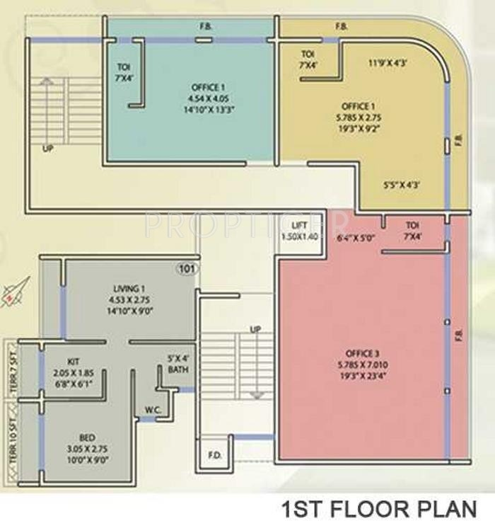 653 sq ft 1 bhk 1t apartment for sale in d p homes for Cluster house plans