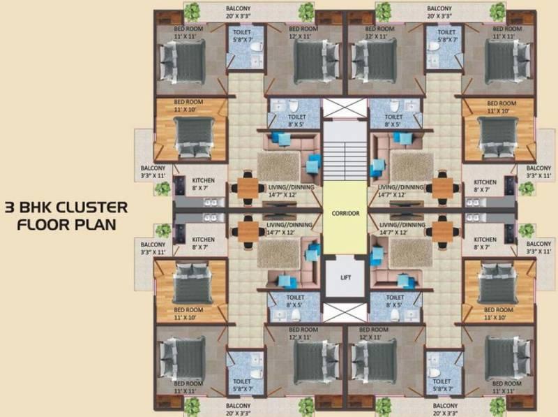 Images for Cluster Plan of Satyam SBI Residency 2