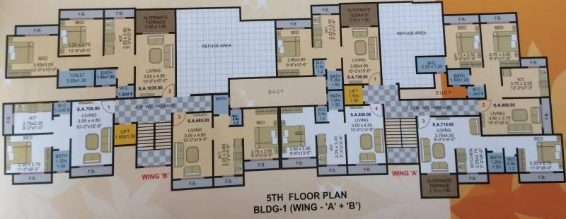 Images for Cluster Plan of Gauri Vinayak Shubham Paradise ABCDEF Wing