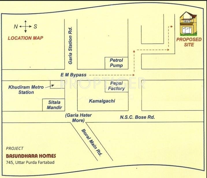 Images for Location Plan of Basundhara Homes
