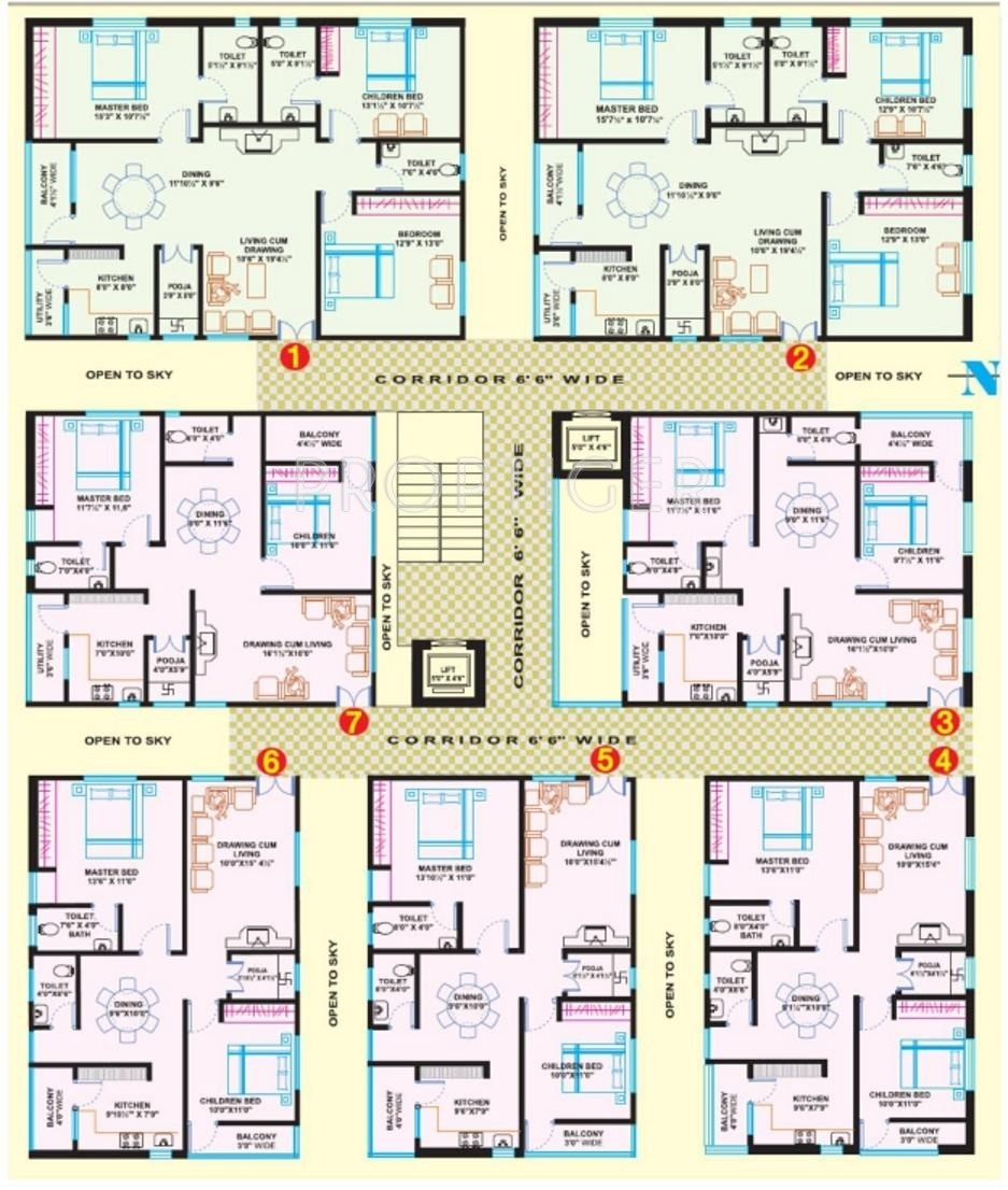 Bedroom Designs From Professionals In Hyderabad  C2NyYXBlLTEtRHBWSGVH: 1100 Sq Ft 2 BHK 2T Apartment For Sale In VRR