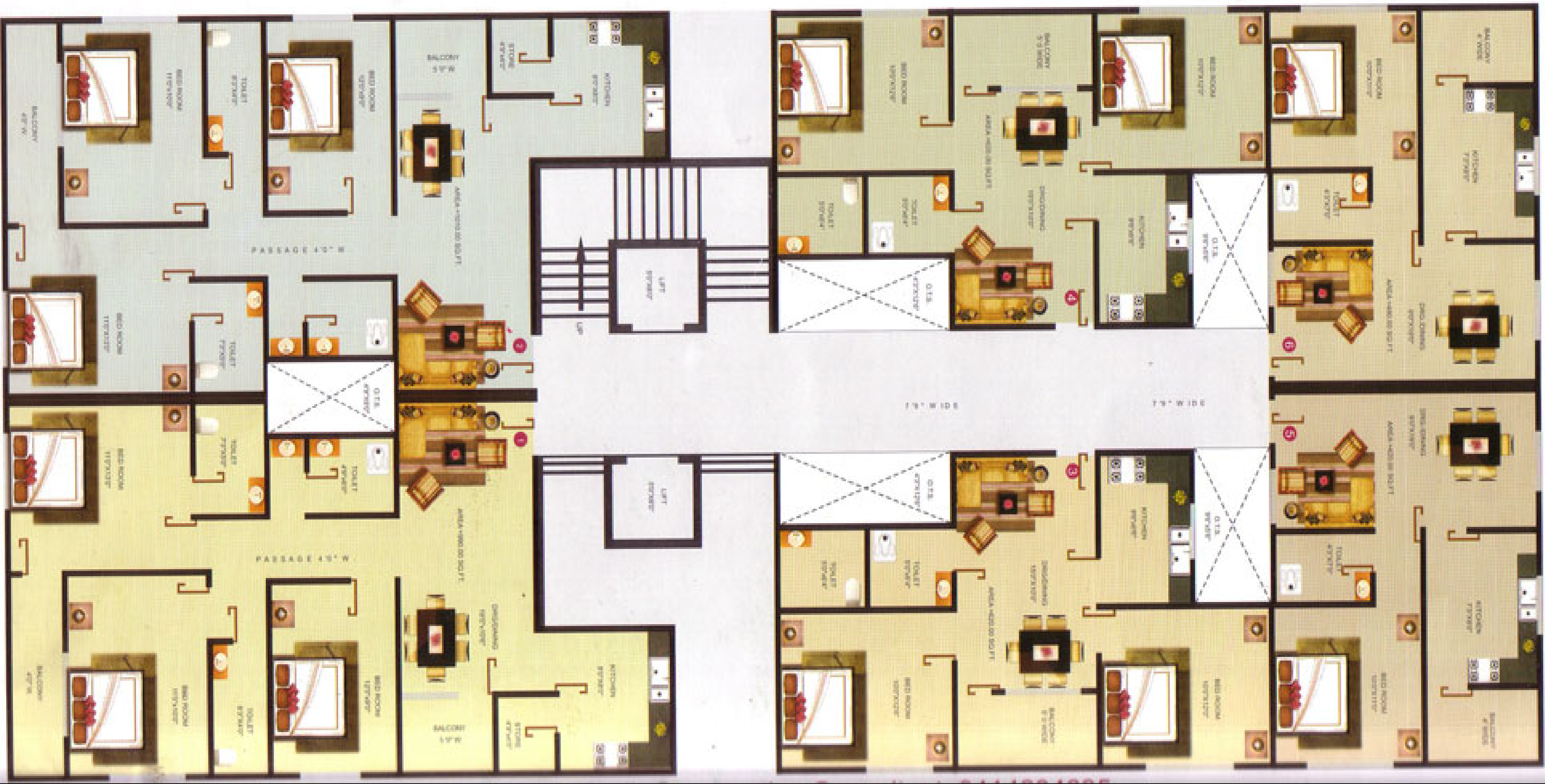 870 sq ft 2 bhk 2t apartment for sale in gyanesh royal