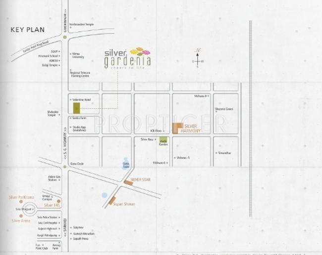 Avirat group Silver Gardenia Location Plan