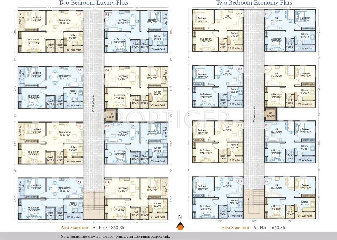 100 Best Floorpans 650 Sqft 0 1 2 Bedroom