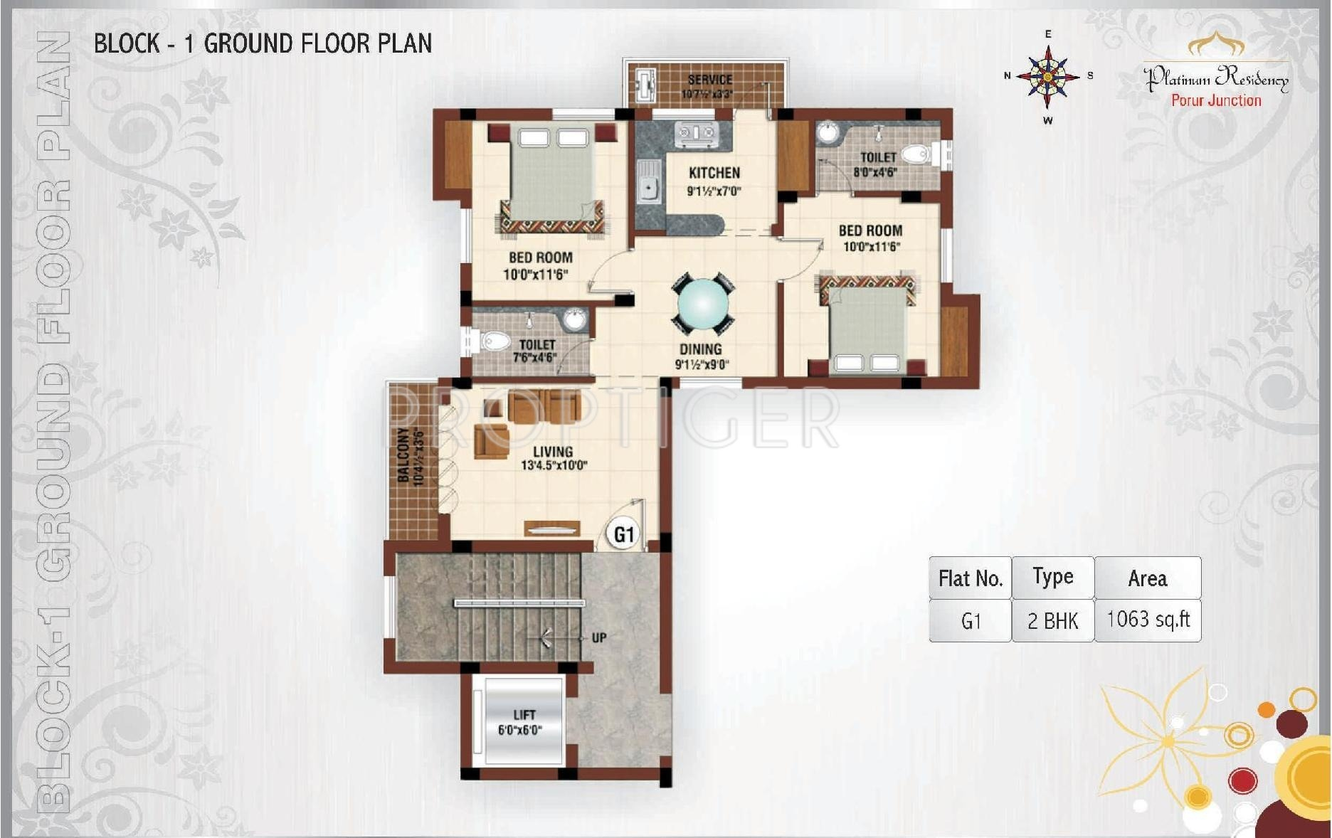 1245 sq ft 3 bhk 3t apartment for sale in platinum homes for Cluster home plans