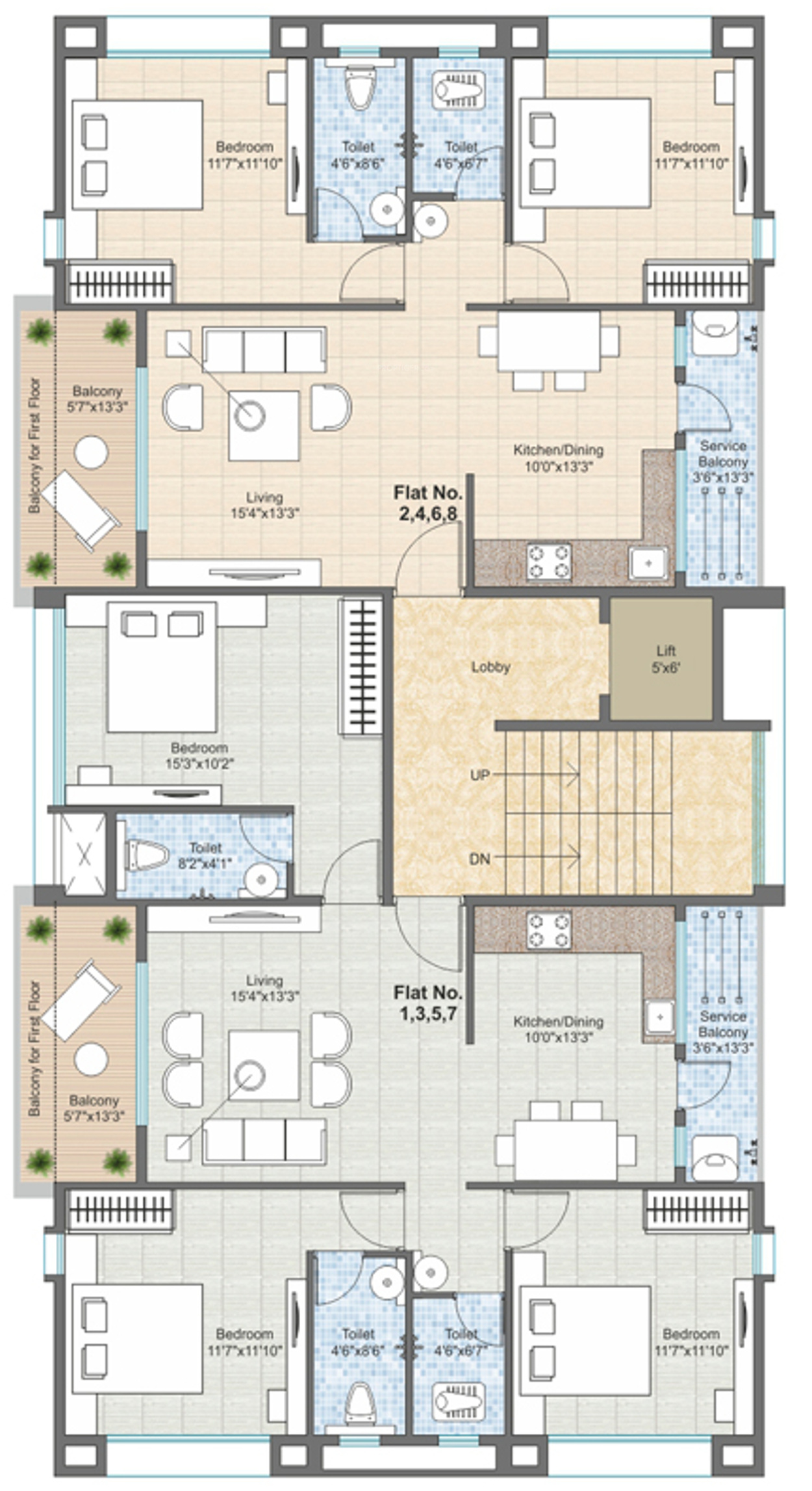 1200 sq ft 2 bhk 2t apartment for sale in janaki group for Apartment plans 1200 sq ft