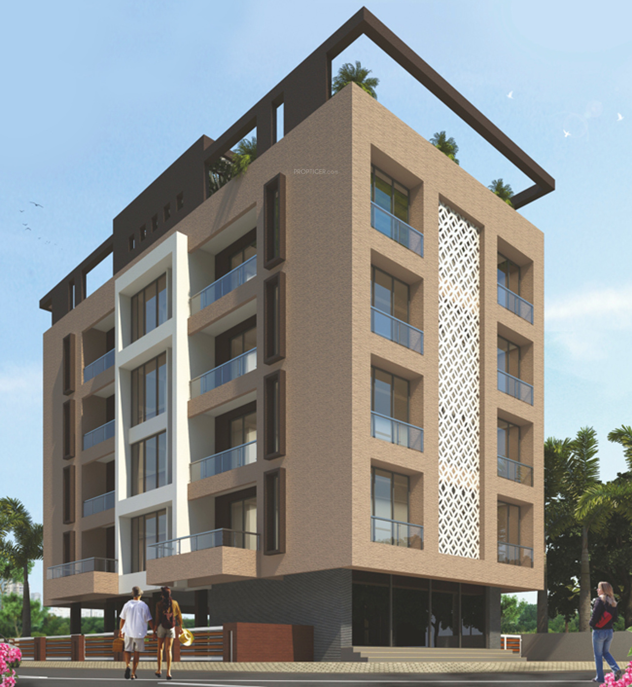 Apartment Interior Elevation: 1200 Sq Ft 2 BHK 2T Apartment For Sale In Janaki Group