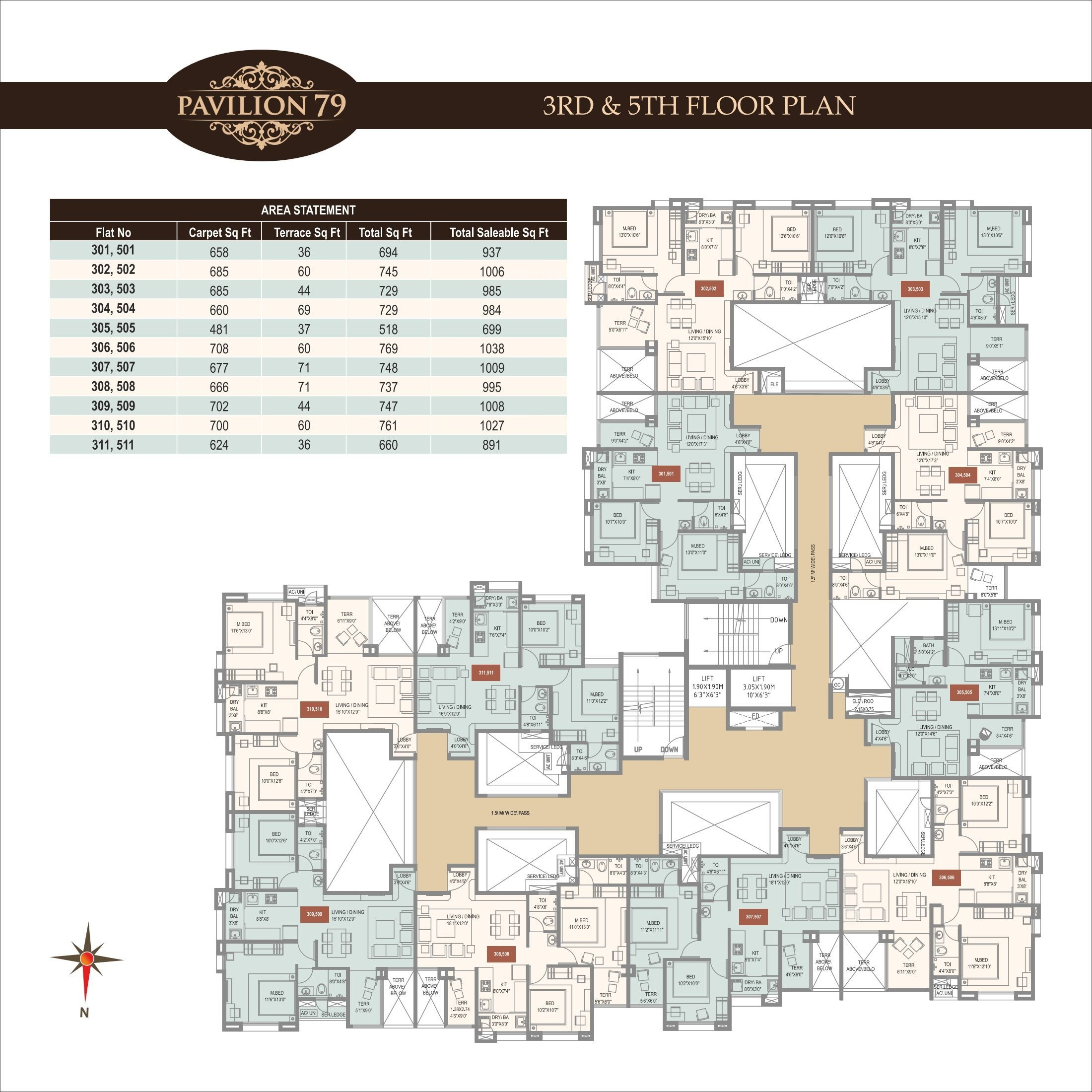 Wakadkar pavilion 79 in wakad pune price location map for Floor 5 map swordburst 2