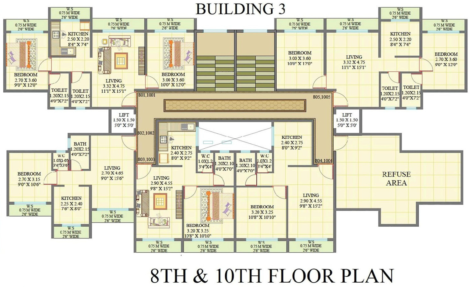962 sq ft 2 bhk 2t apartment for sale in omkar krupa for Builder s pride flooring