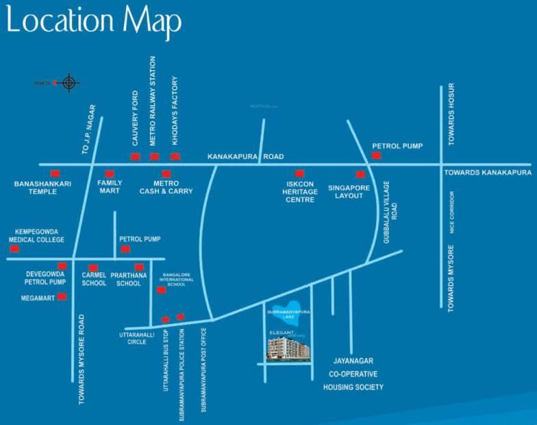Images for Location Plan of Shakthi Elegant Embassy