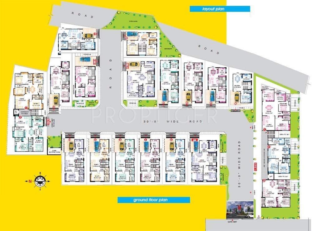 2650 Sq Ft 3 Bhk 3t Villa For Sale In Samskruthi