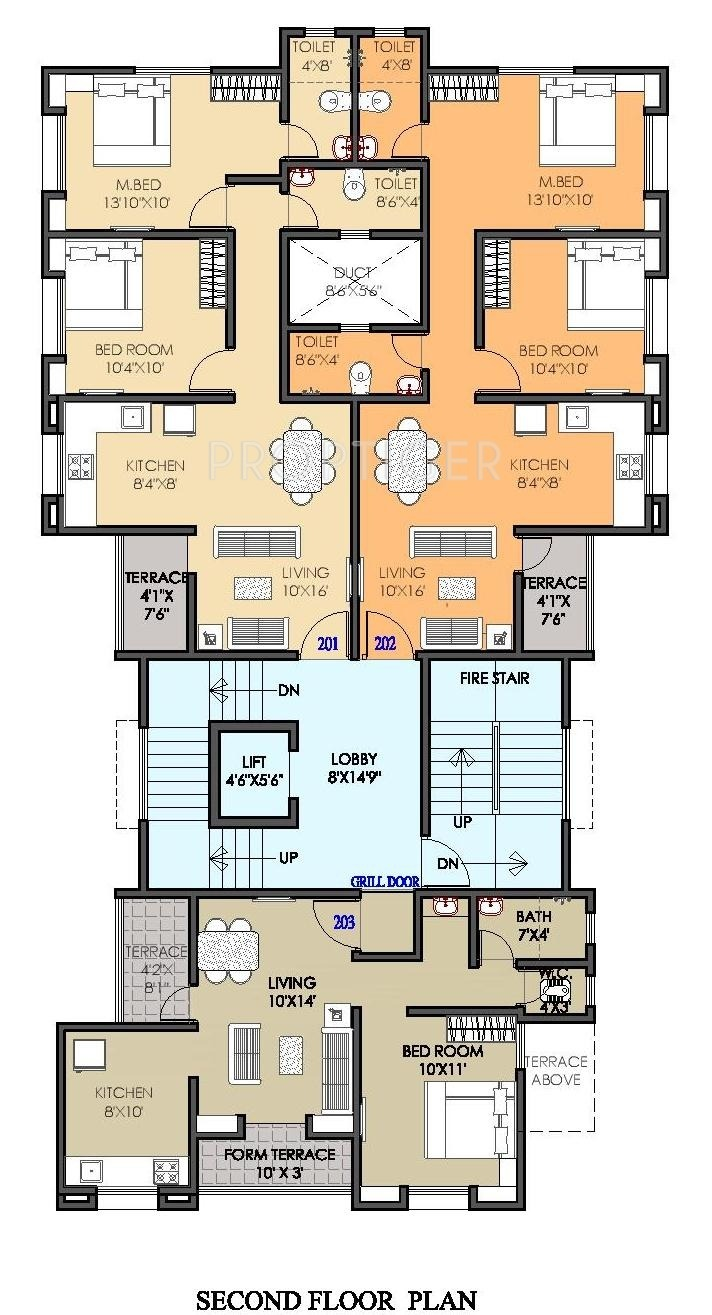 612 sq ft 1 bhk 1t apartment for sale in om constructions for Apartment cluster plans