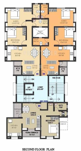 1 2 3 bhk cluster plan image om constructions galaxy for Apartment cluster plans