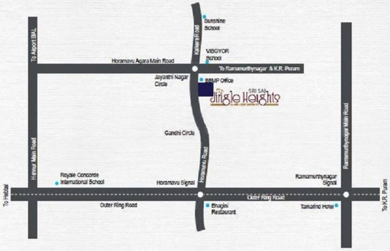Horamavu Bangalore Map Image of Location Map of Sri Sai Builders Horamavu Bangalore Sri