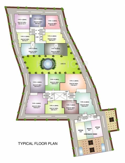 Satyam Builders And Developers Residence Tower Cluster Plan
