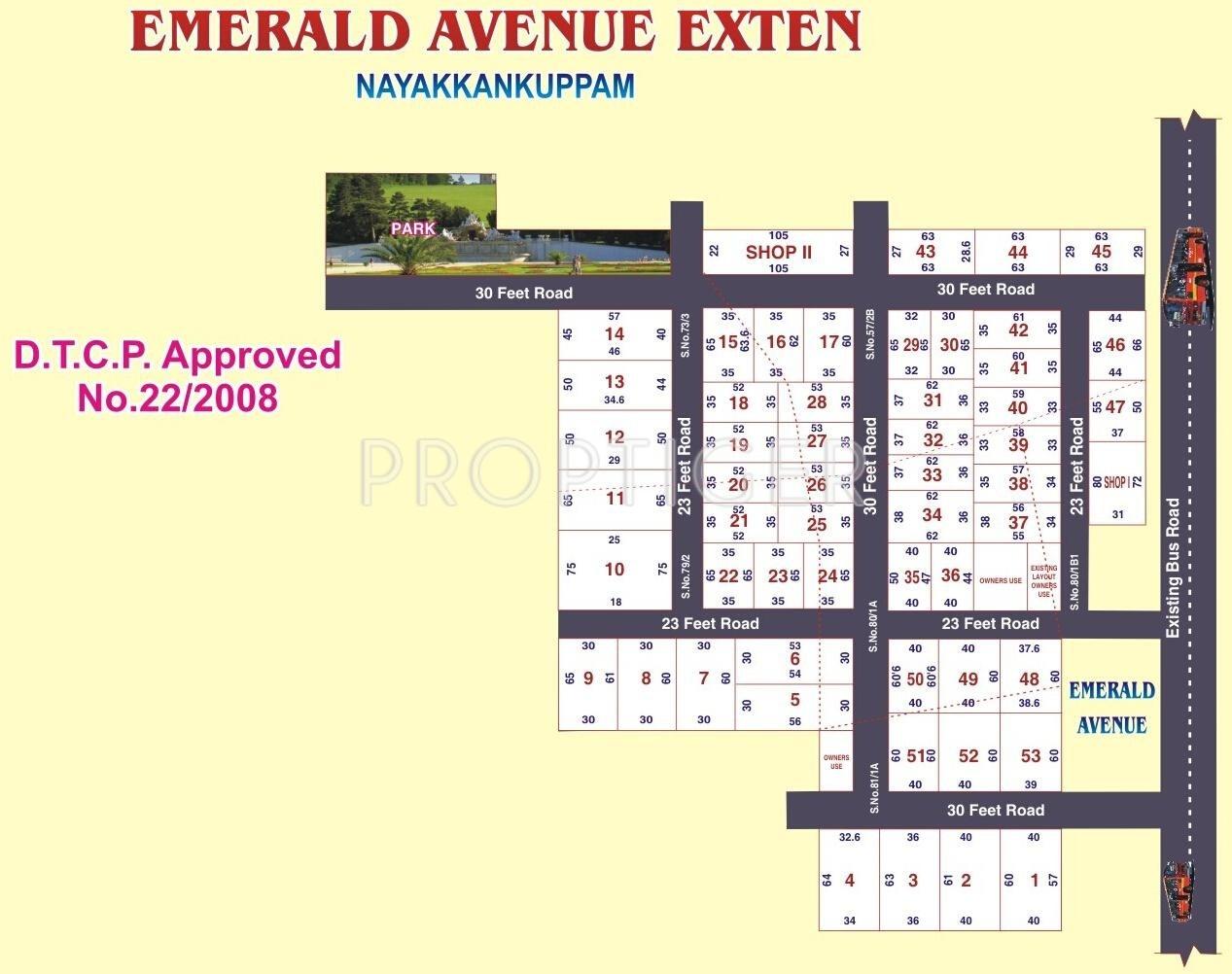 1650 Sq Ft Plot For Sale In Sri Devi Emerald Avenue Extension Walajabad Chennai