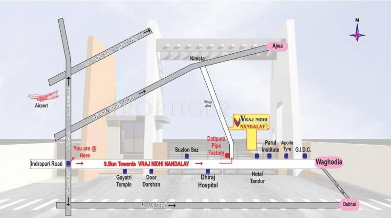 Images for Location Plan of Vraj Nidhi Nandalay