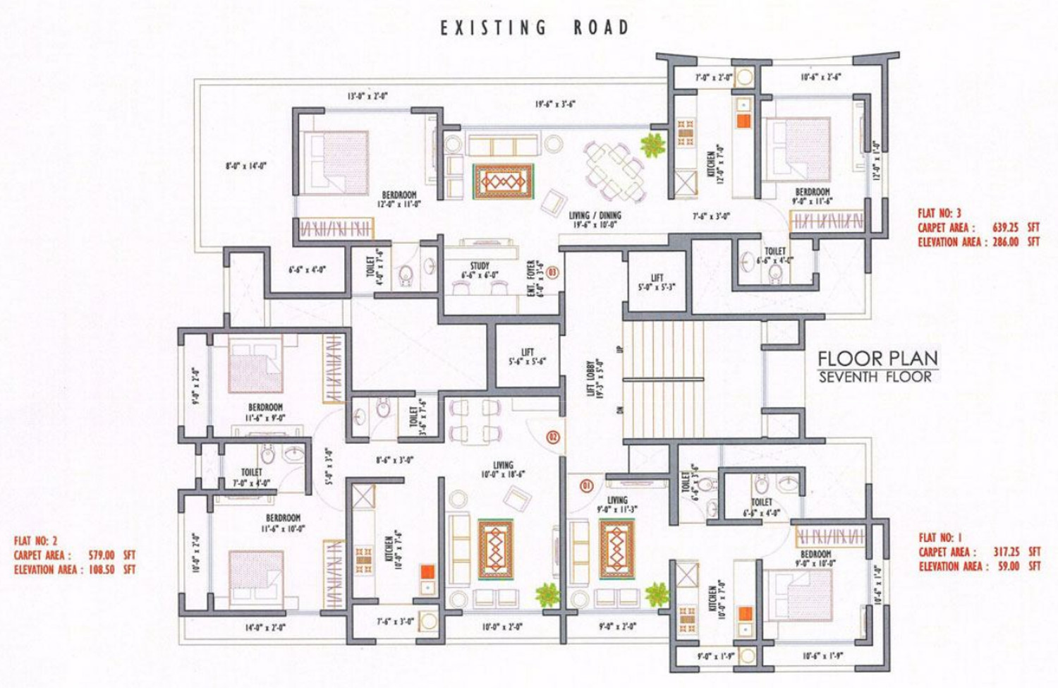 675 sq ft 2 bhk 2t apartment for sale in vini realities for 675 sq ft floor plan