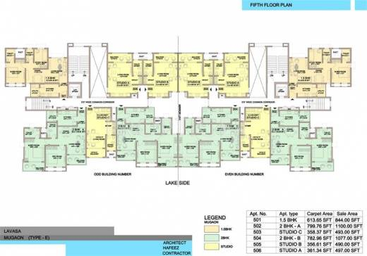 1694 sq ft 3 bhk 3t apartment for sale in lavasa hillshore for Apartment cluster plans