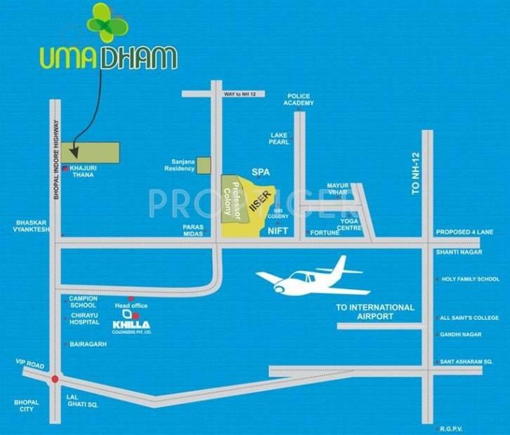 Images for Location Plan of Khilla Uma Dham Villa