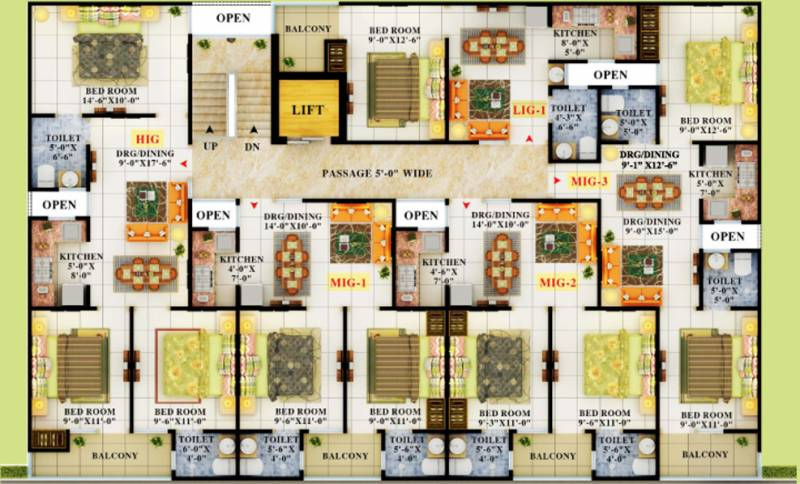 Images for Cluster Plan of APS Crystal Homes