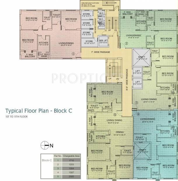 Utkal Builders Royal Residency Cluster Plan