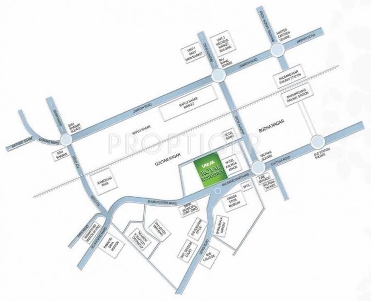 Utkal Builders Royal Residency Location Plan