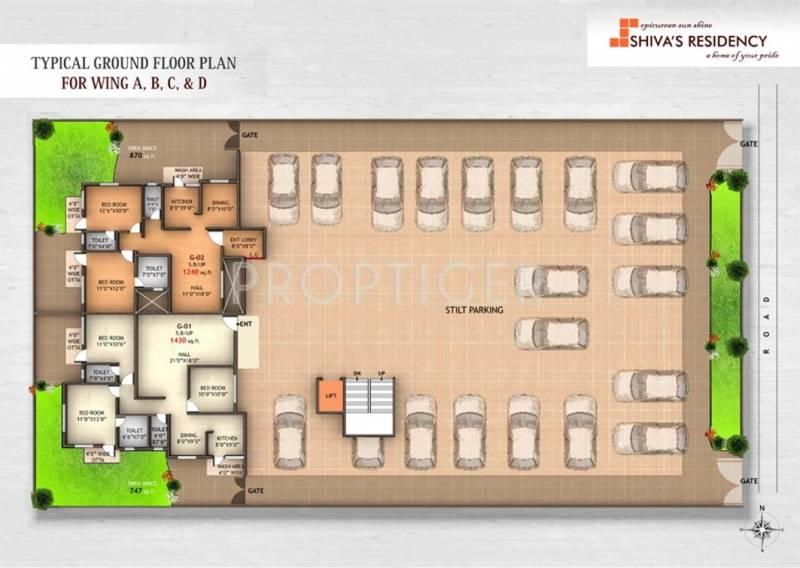 Images for Cluster Plan of Om Shivam Residency
