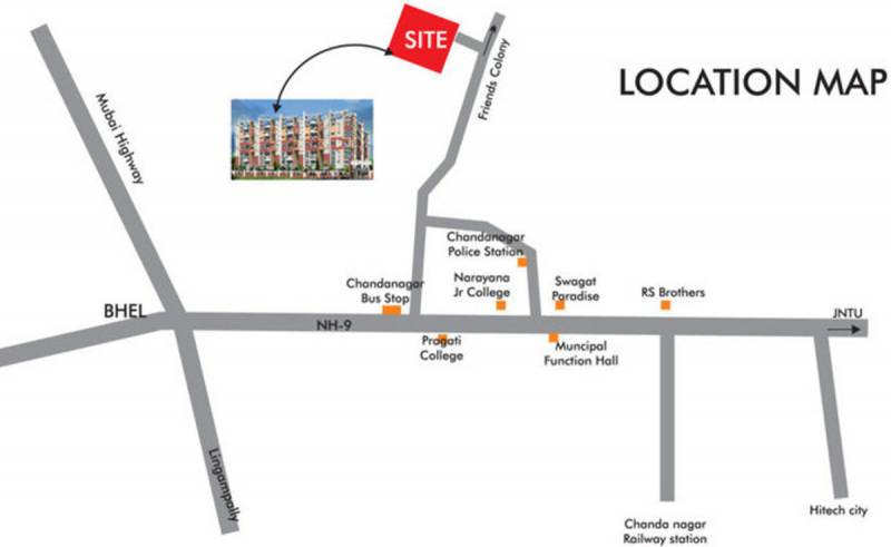 Images for Location Plan of Sai Jyothi Constructions Hyderabad Keerthi Prime