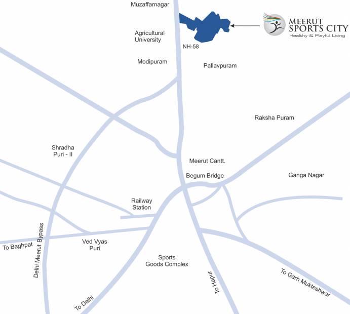 Images for Location Plan of Supertech Krishna Vihar