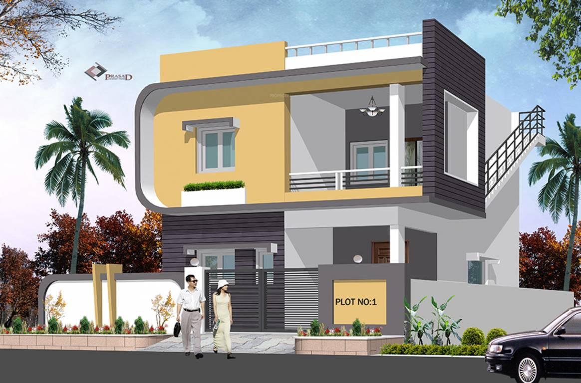 One Floor Villa Elevation : Sq ft bhk t villa for sale in praneeth pranav