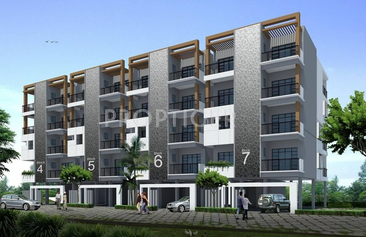4 Floor Apartment Elevation : Aesthetic villaments in cv raman nagar