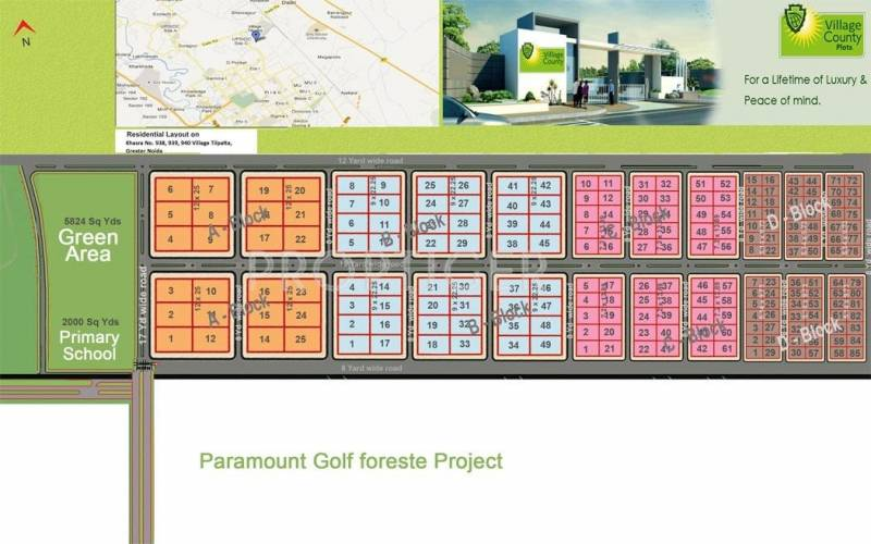 Images for Layout Plan of SSB Village County Plots