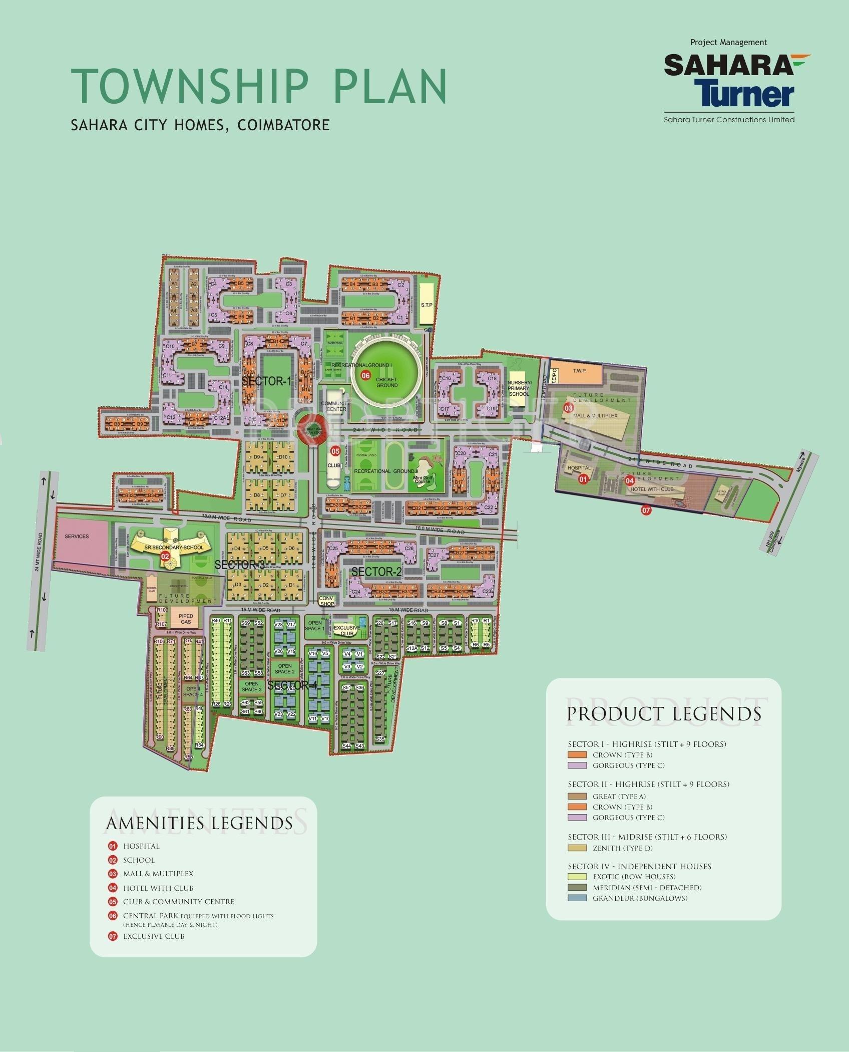 Sahara city homes villas coimbatore in saravanampatti for City house plans