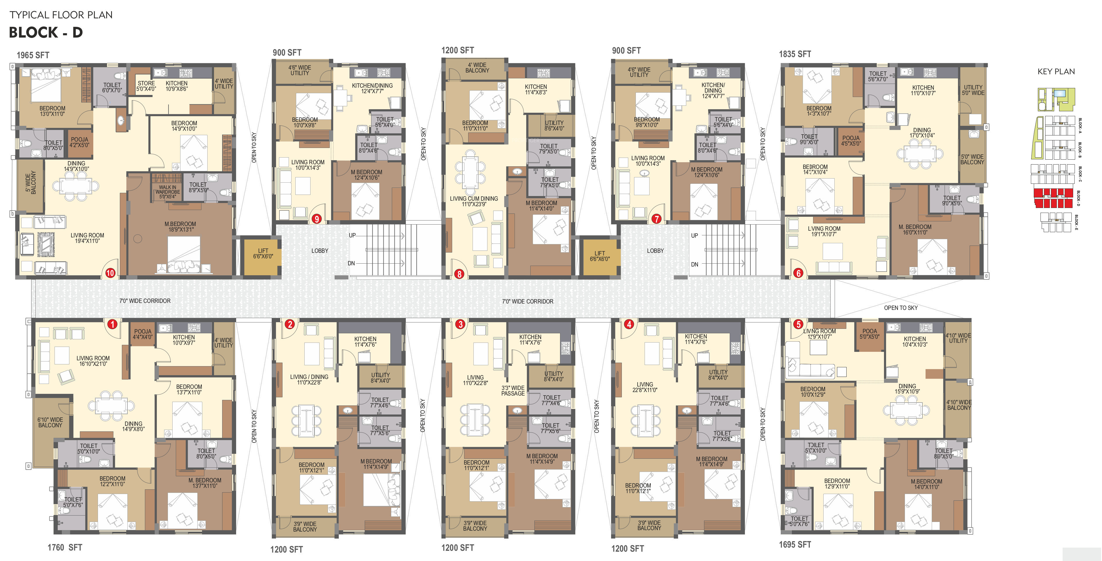 1200 sq ft 2 bhk 2t apartment for sale in rochishmati for Cluster home plans