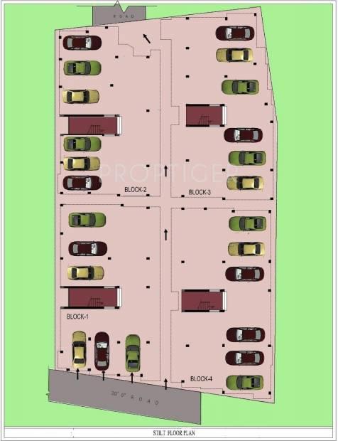 Sumangali Homes Indra Enclave Stilt Cluster Plan