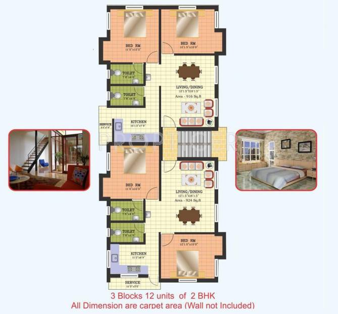 Images for Cluster Plan of Vijay Raja 3 Cubes
