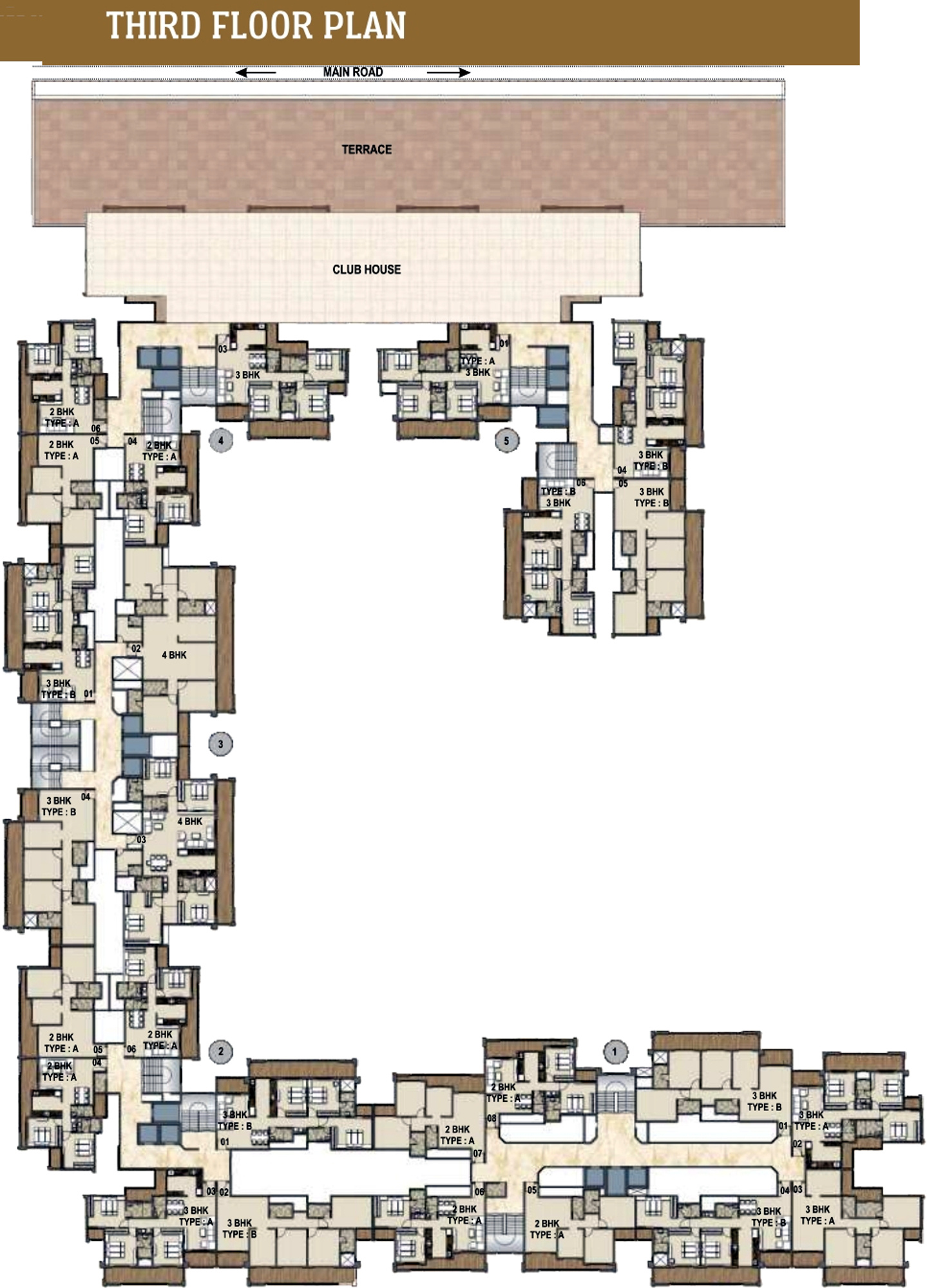 2960 Sq Ft 4 Bhk 4t Apartment For Sale In Paradise Group