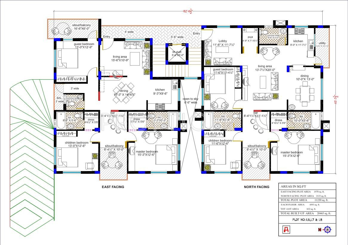 2123 sq ft 3 bhk 3t apartment for sale in aliens valley for Apartment cluster plans