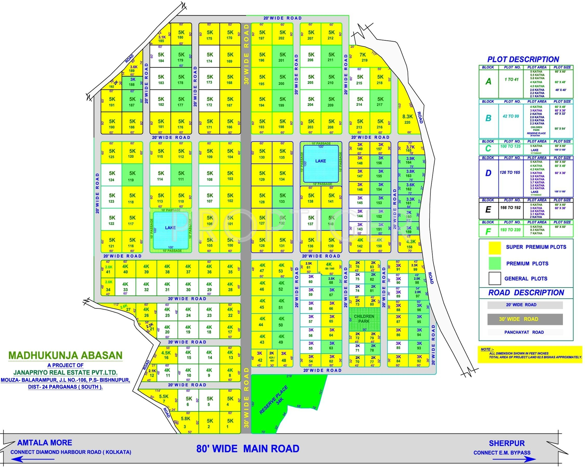 Janapriyo madhukunj in baruipur kolkata price location for Real estate floor plan pricing